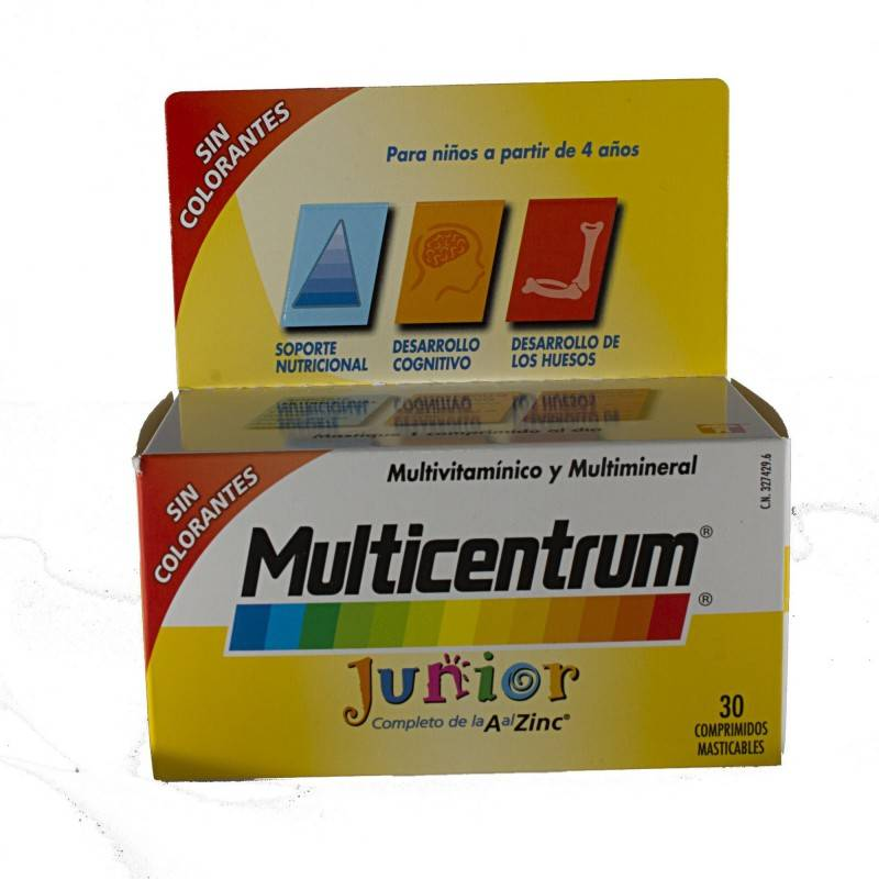 MULTICENTRUM JUNIOR 30 COMP FRAMBUESA/LIMON 327429 Vitaminas - Minerales