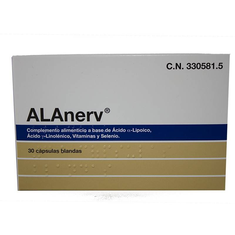 ALANERV 30 CAPSULAS 330581 Antioxidantes Naturales