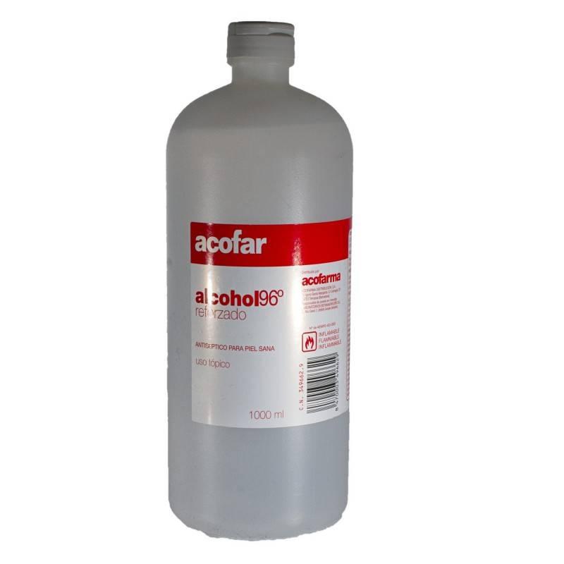 ALCOHOL 96º 1000 ML ACOFAR 349662 Cortes-Heridas-Quemaduras