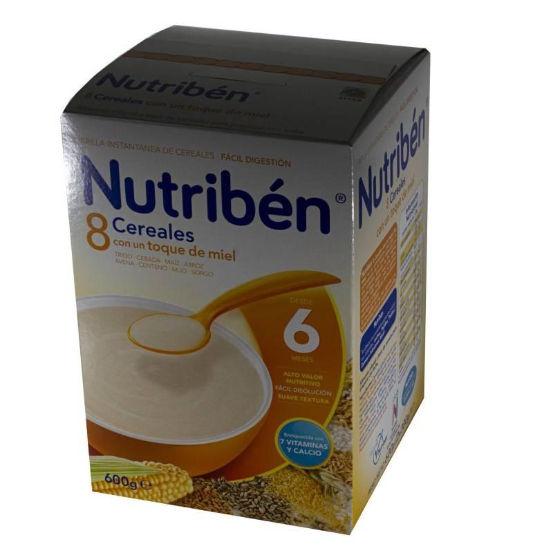 NUTRIBEN 8 CEREALES CON MIEL 600 GRAMOS 209825