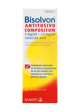 BISOLVON ANTITUSIVO COMPOSITUM 3/1.5 MG/ML SOLUC 660405 Resfriados-Gripes-Tos