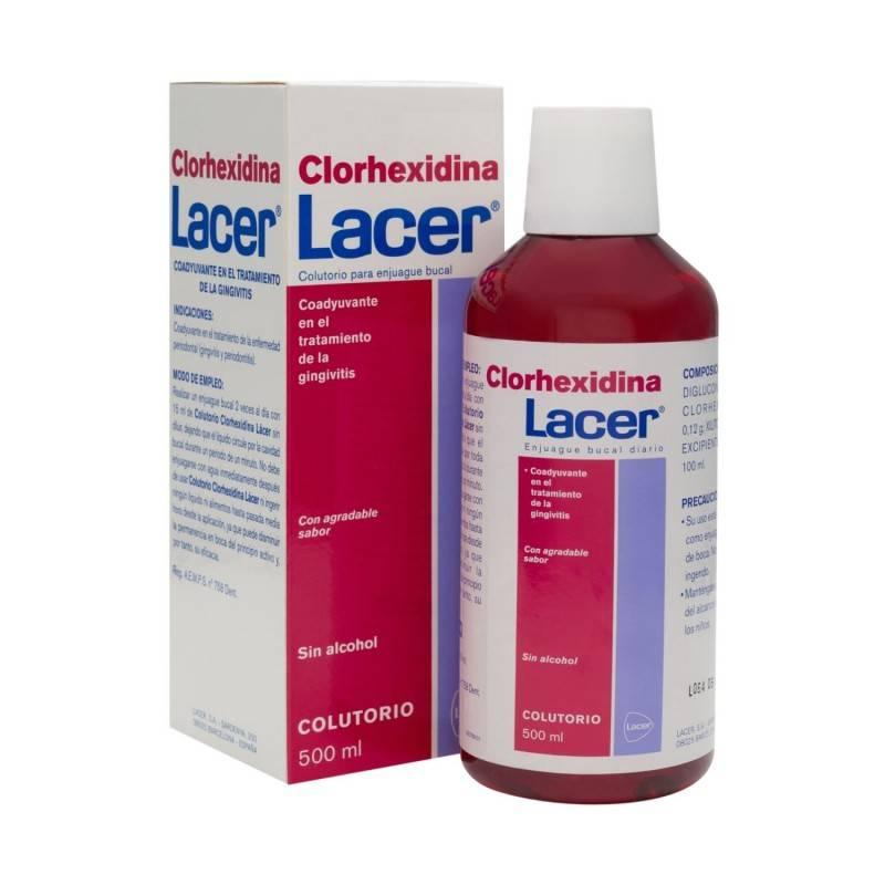LACER COLUTORIO CLORHEXIDINA 500 ML 385666 Dentífricos - Enjuages