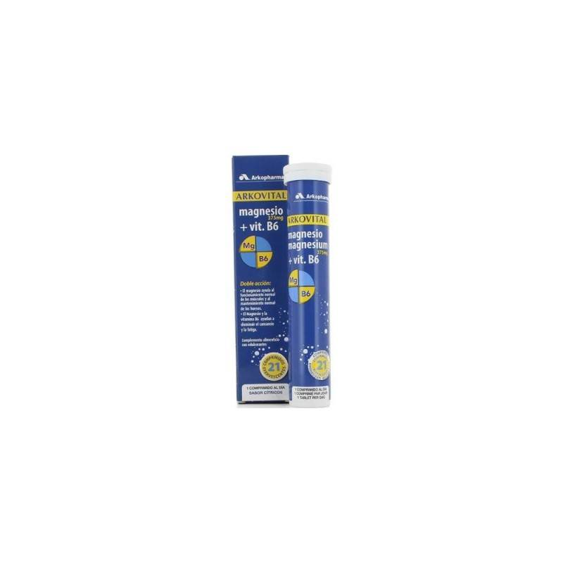 ARKOVITAL MAGNESIO VITAMINA B6 21 COMPRIMIDOS EFERVESCENTES 176590 Vitaminas - Minerales