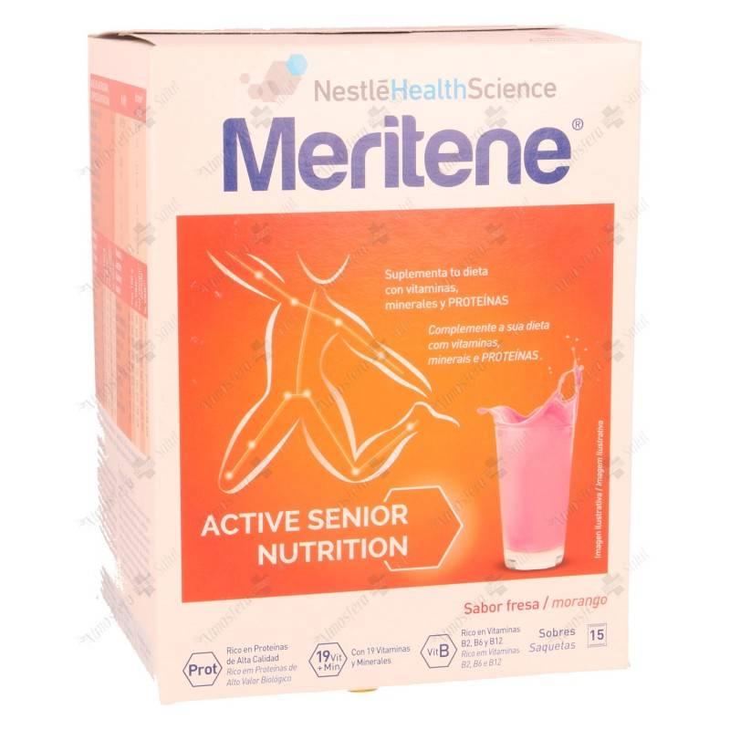 MERITENE 30 G 15 SOBRES SABOR FRESA 248401 Dieta adultos especiales