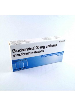 BIODRAMINA 20 MG 6 CHICLES 978478 Mareo-Cinetosis