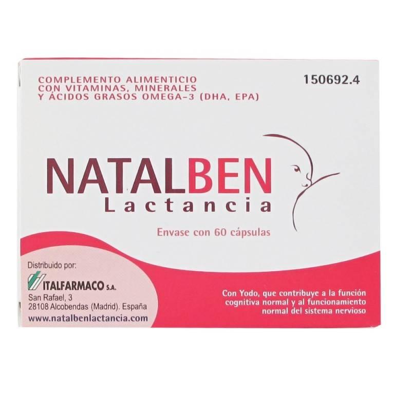 NATALBEN LACTANCIA 60 CAPSULAS 150692 Embarazo- Fertilidad- Lactancia