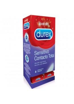 DUREX SENSITIVO CONTACTO TOTAL 6 UNIDADES 264770 Preservativos
