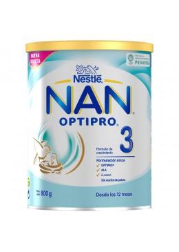 NAN 3 OPTIPRO 800 G NESTLE 156496 Alimentación infantil