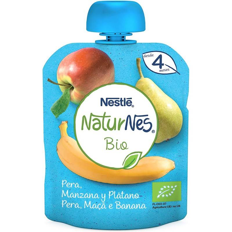 NESTLE NATURNES MANZ /PERA/ PLATANO 90 GR+4 MES 186937 Alimentación infantil