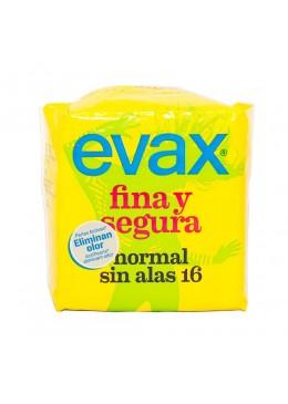 EVAX FINA SEGURA NORMAL SIN ALAS 16 U (AMARILLA) 173564 Compresas y protegeslip