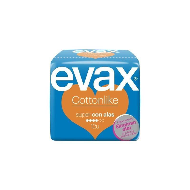 EVAX SUPER CON ALAS 12 U (NARANJA)(16 ORIGEN) 174530 Compresas y protegeslip