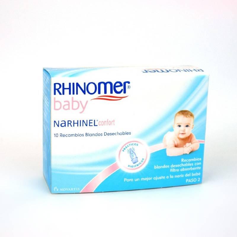NARHINEL CONFORT RECAMBIOS DESHECHABLES 10U 152644 Higiene auditiva y nasal