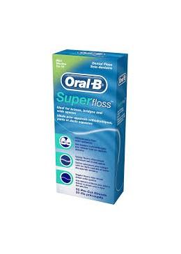 ORAL-B SUPERFLOSS 50 UNIDADES 369744 Cepillos-Accesorios bucales