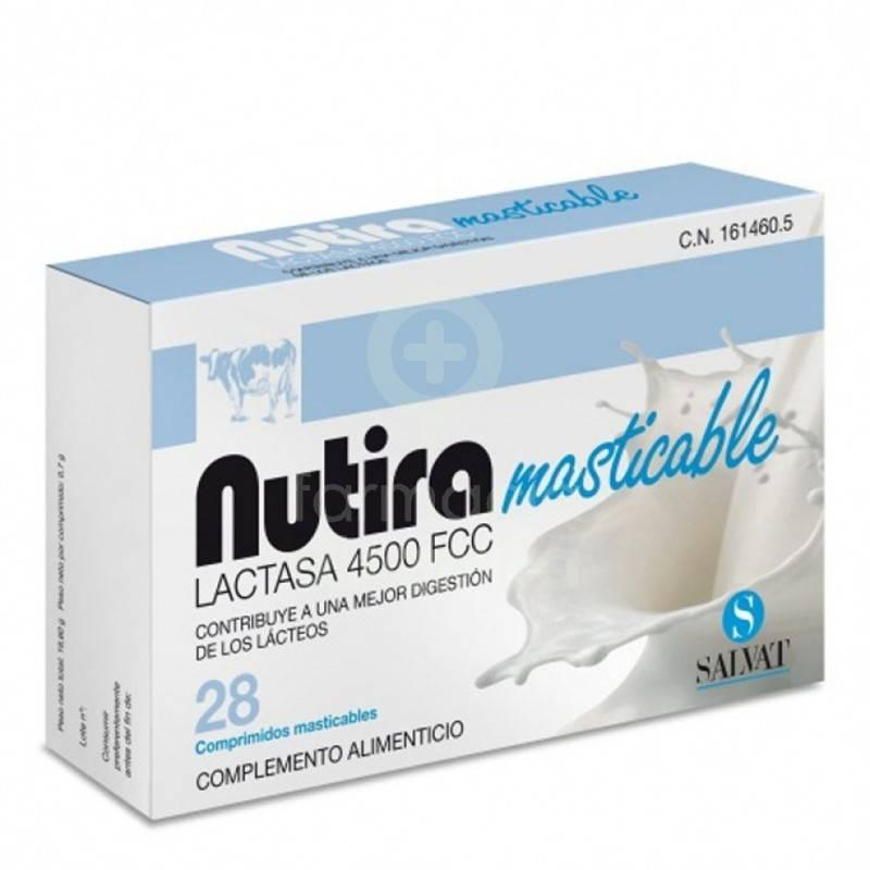 NUTIRA LACTASA 4500 FCC 28 COMP MASTICABLES 161460 Dieta adultos especiales