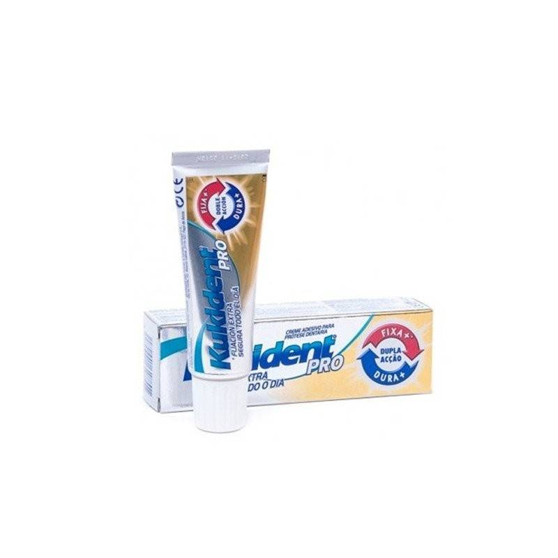 KUKIDENT PRO DOBLE ACCION CREMA ADHE NEUTRO 60 G0 G 165379 Dentadura- Fijación- Limpieza
