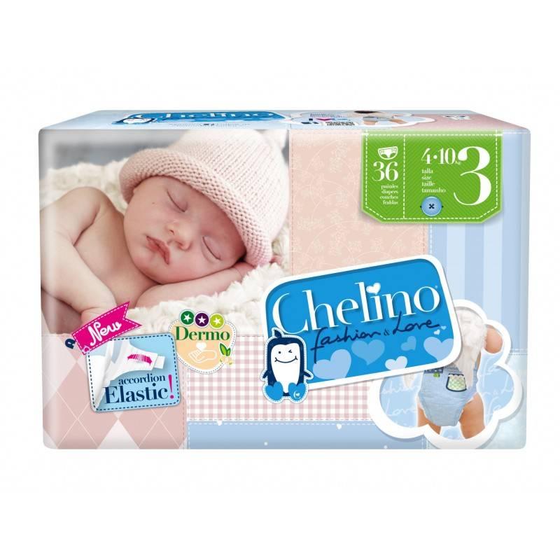 PAÑAL CHELINO T- 3 (4 - 10 KG) 36 UN 165774 Pañal infantil