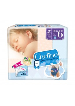 PAÑAL CHELINO T- 6 (17 - 28 KG) 27 PAÑALES 165777 Pañal infantil
