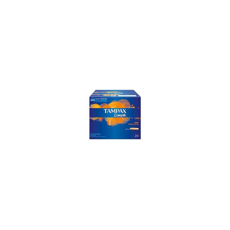 TAMPAX COMPAK SUPER PLUS 24 U 179177 Tampones y copas menstruales