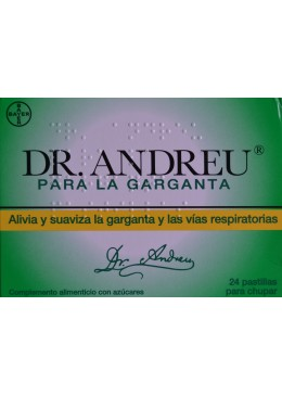 DR ANDREU PARA LA GARGANTA 24 PASTILLAS 180251 Garganta - Afonía