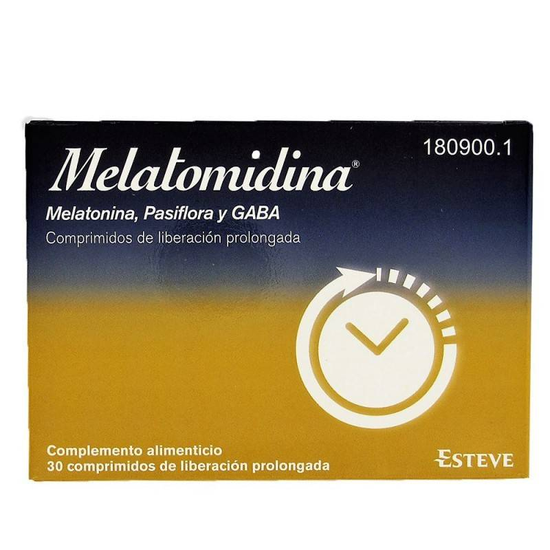 MELATOMIDINA (MELAT- PASSIFL-GABA) 1.85MG 30 COM 180900 Estrés- Insomnio
