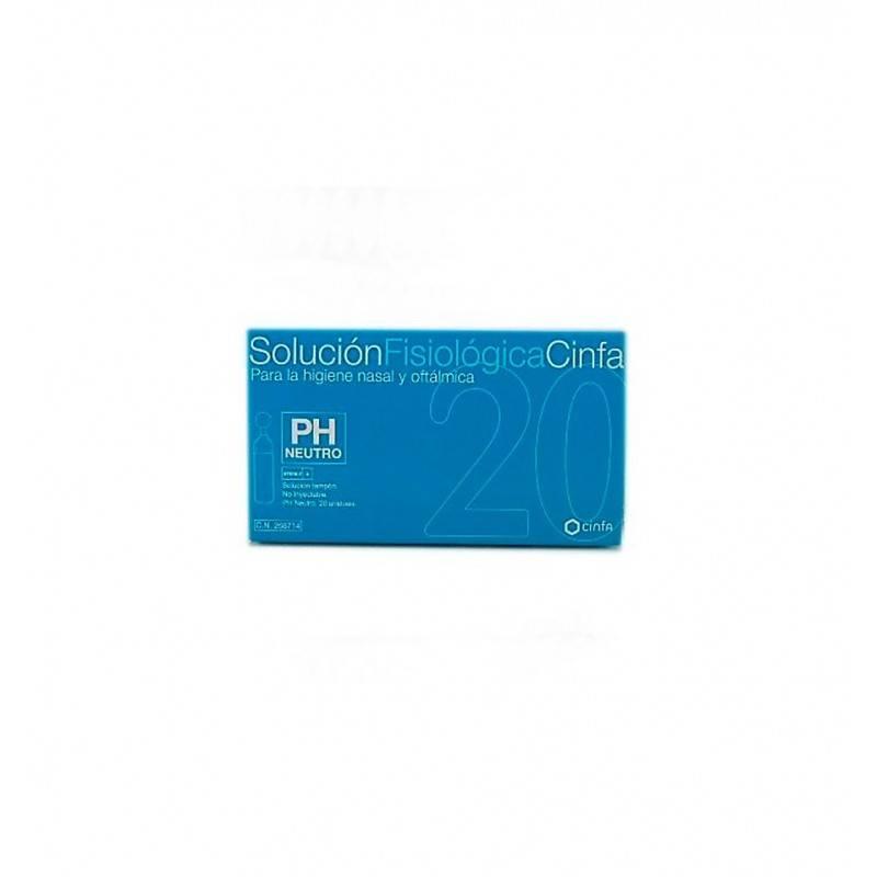 SUERO FISIOLOGICO CINFA 20 MONODOSIS 268714 Higiene auditiva y nasal