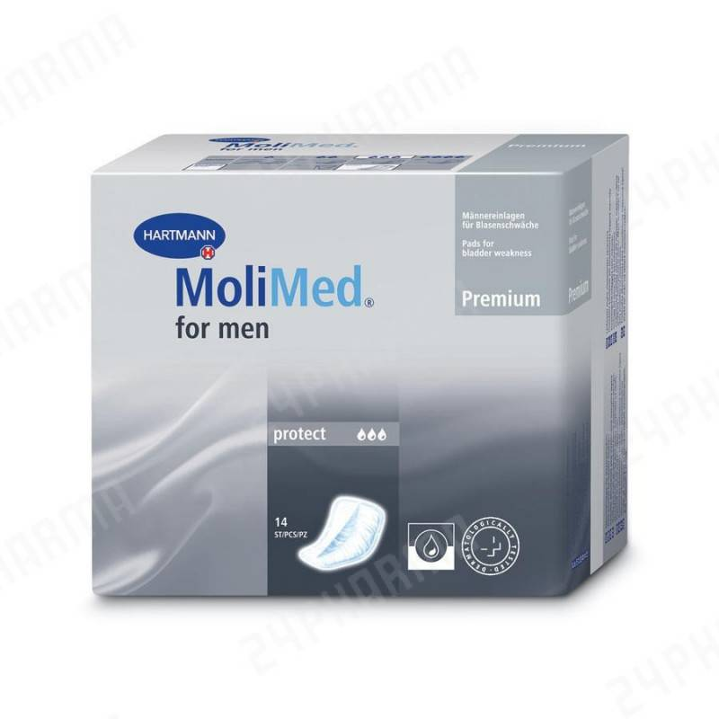 MOLIMED FOR MEN PROTECT 14 UNITATS 319004 Incontinencia adultos