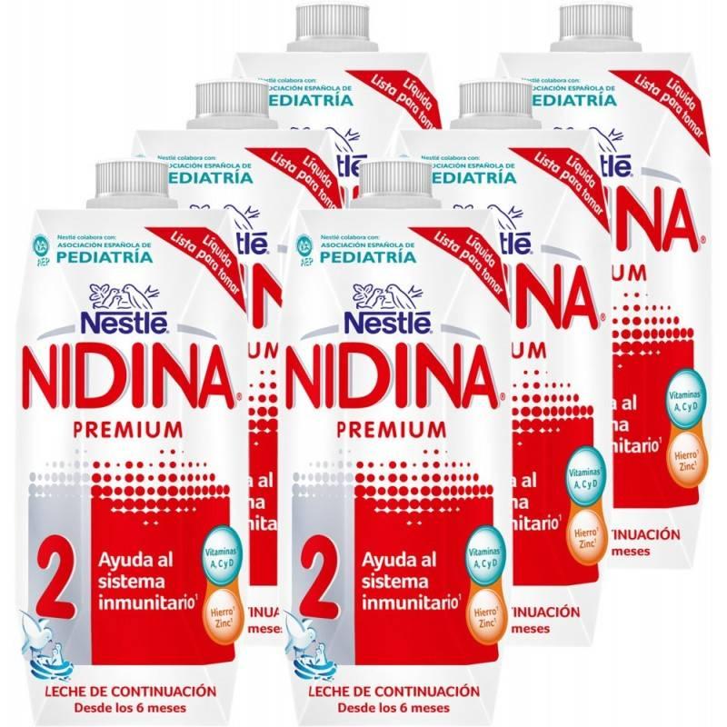 NIDINA-2 LIQUIDA 500ML NESTLE 397968 Alimentación infantil