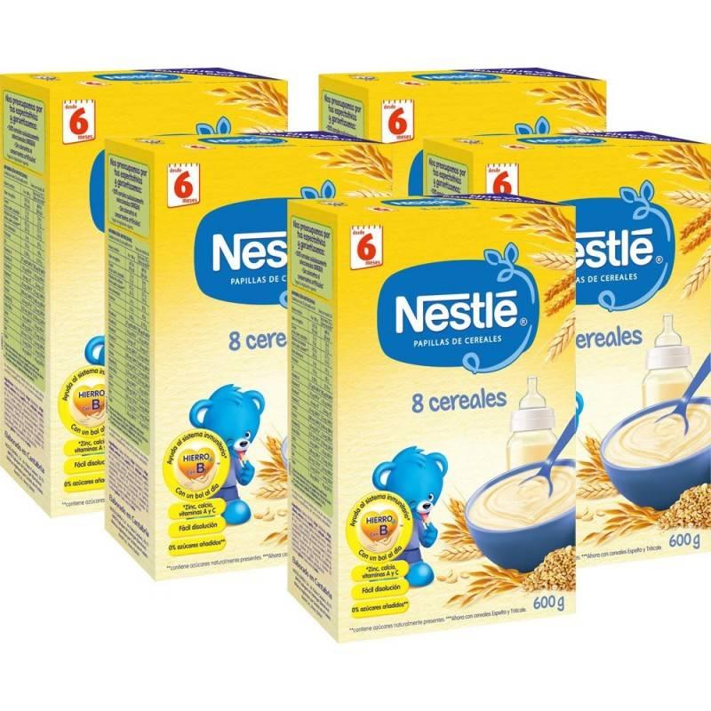 NESTLE PAPILLA 8 CEREALES CON BIFIDUS 600 GRAMOS 240974 Alimentación infantil