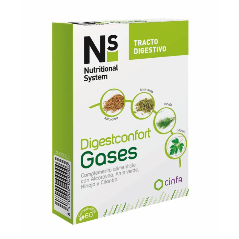 NS DIGESTCONFORT GASES 60COMPRIMIDOS 185133 Probióticos-Digestión