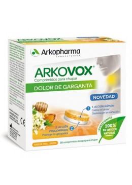 ARKOVOX DOLOR DE GARGANTA MIEL-LIMON 20 COMPRIMIDOS 185705 Garganta - Afonía