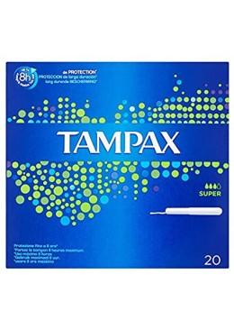 TAMPAX SUPER 20 UNIDADES 072434 Tampones y copas menstruales