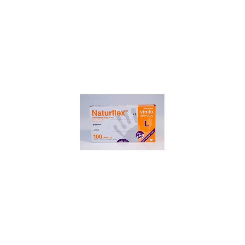 GUANTES VINILO NATURFLEX S/POLVO GRANDE 100 UDS 124099 ORTOPEDIA