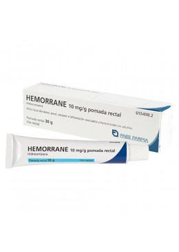 HEMORRANE 10 MG/G POMADA RECTAL 30 G 655498 Hemorroides