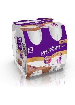 PEDIASURE DRINK CHOCOLATE PACK 4 BOTELLAS X 200 ML 193723 INFANTIL