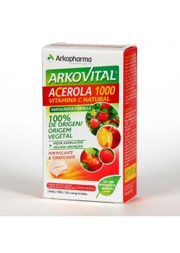 ARKOVITAL ACEROLA 1000 VITAMINA C 30 COMPRIMIDOS MASTICABLES 182146 Vitaminas - Minerales