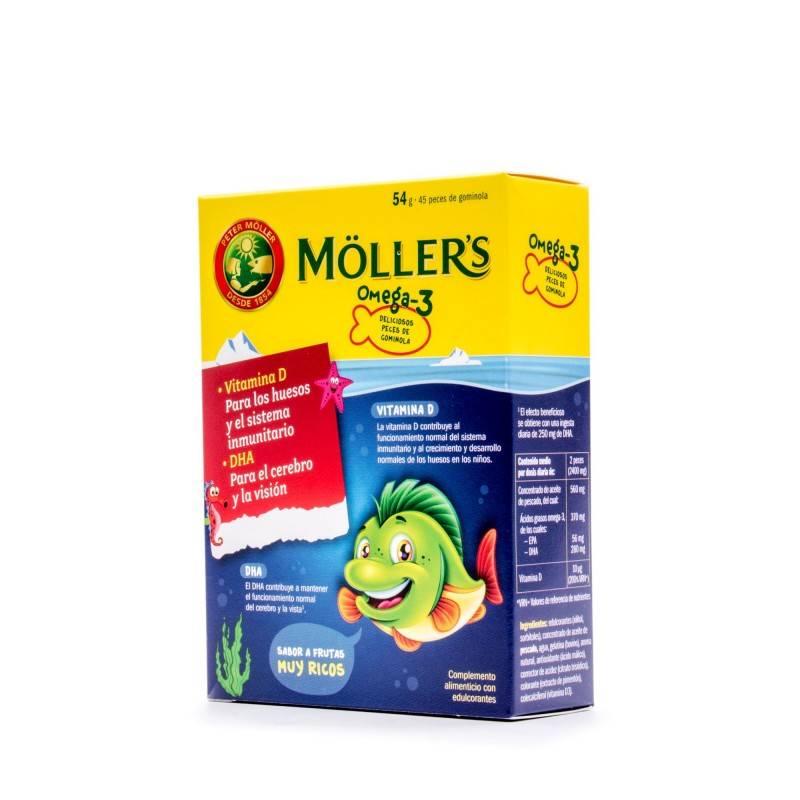 MOLLERS OMEGA 3 45 GOMINOLAS INFANTIL 184884 COMPLEMENTOS NUTRICIONALES