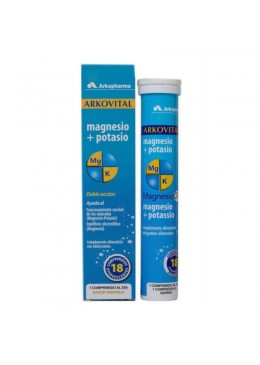 ARKOVITAL MAGNESIO+ POTASIO 18 COMP EFERV 175705 Vitaminas - Minerales