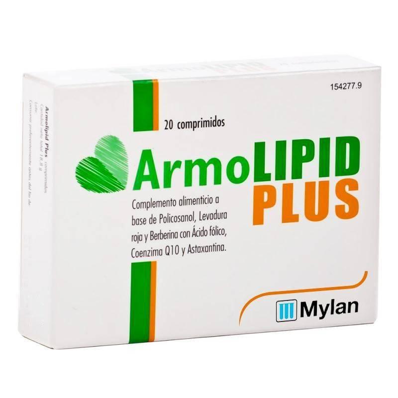 ARMOLIPID PLUS 20 COMPRIMIDOS 154277 Colesterol- Ácidos grasos