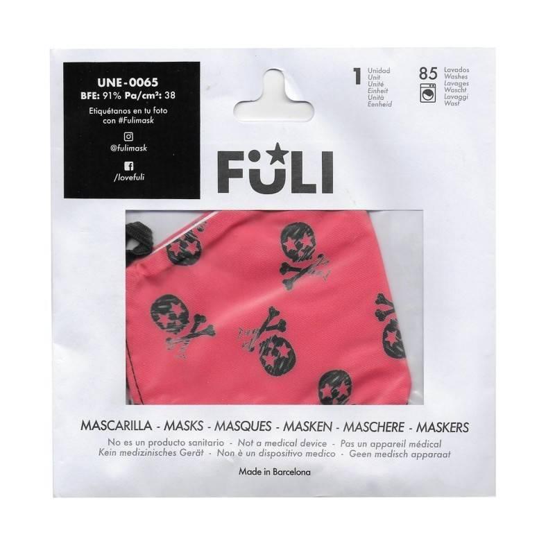 MASCARILLA FULI SKULL ROJO T-GRANDE 030045 PROTECCIÓN CORONAVIRUS