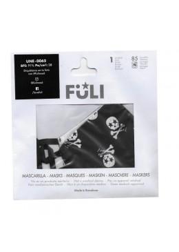MASCARILLA FULI SKULL NEGRO T-PEQUEÑA 030058 PROTECCIÓN CORONAVIRUS