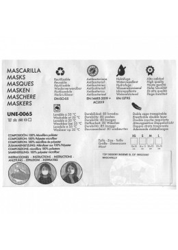 MASCARILLA FULI MONSTERS AZUL T-MEDIANA 030060 PROTECCIÓN CORONAVIRUS