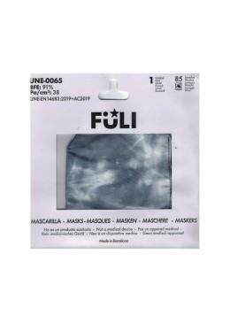 MASCARILLA FULI TIE-DYE NEGRO T-GRANDE 033025 PROTECCIÓN CORONAVIRUS