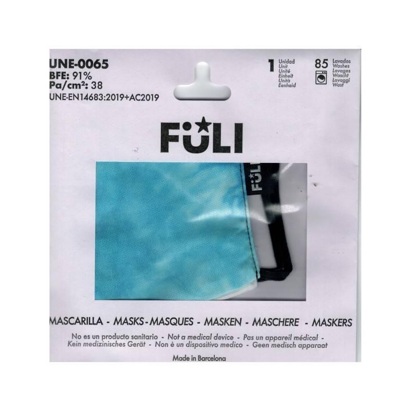 MASCARILLA FULI TIE-DYE AZUL T-GRANDE 033027 PROTECCIÓN CORONAVIRUS