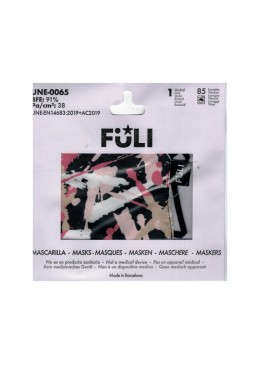 MASCARILLA FULI SAFARI PINK T-MEDIANA 033032 PROTECCIÓN CORONAVIRUS