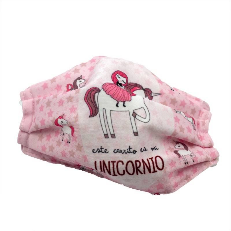MASCARILLA CLIMINVER INFANTIL UNICORNIO 003025 PROTECCIÓN CORONAVIRUS