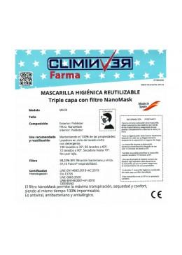 MASCARILLA CLIMINVER ADULTO ROJA 003039 PROTECCIÓN CORONAVIRUS