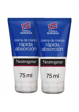 NEUTROGENA CREMA MANOS RAPIDA ABSORCION 75 ML DUPLO 169307 Manos - Uñas