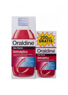 ORALDINE ANTISEPTICO PACK 400 ML +200 ML 171714 HIGIENE BUCAL