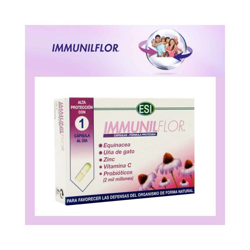 TREPAT DIET IMMUNILFLOR 30 CAPSULAS 158677 Aminoácidos