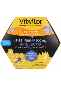 VITAFLOR JALEA REAL INTELECTO 20 VIALES 10 ML 161452 Estimulantes- Energéticos